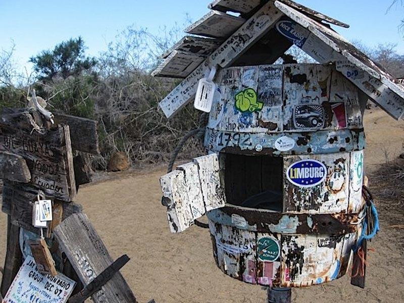 Post office on Floreana Island Galapagos