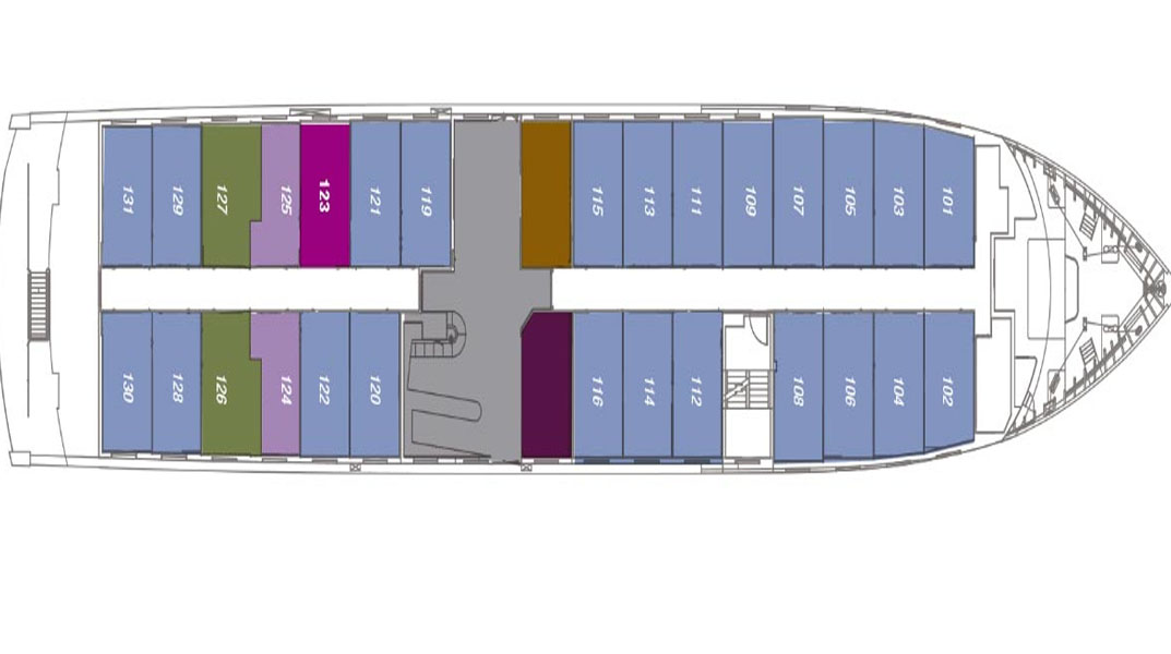 SANTA CRUZ II Horizon Deck plans choice