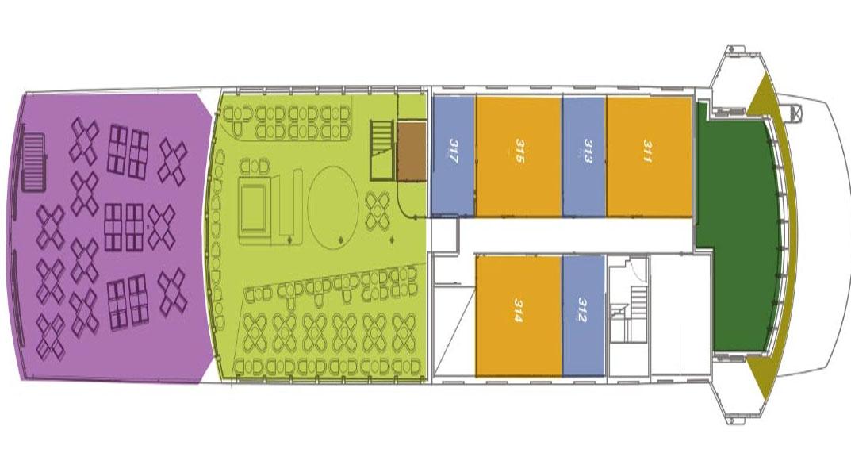 SANTA CRUZ II Panorama Deck Plans choice